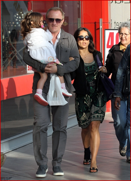 Salma Hayek Enjoys A Day Out With Her Family Despite Foot
