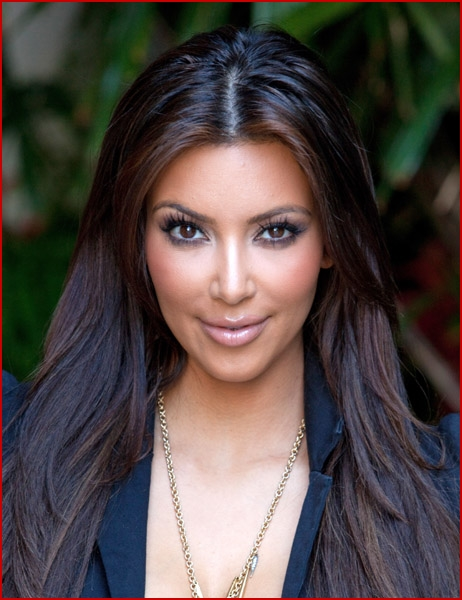 kim kardashian without makeup and weave. you can bet Kim Kardashian