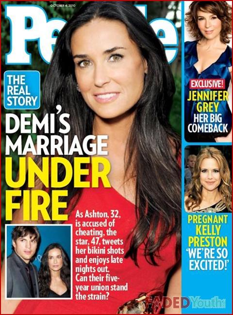 ashton kutcher demi moore marriage. Demi Moore and Ashton