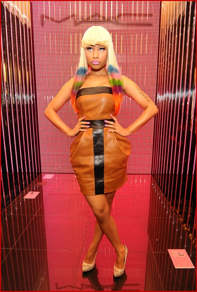 A very colourful Nicki Minaj attended the MAC + Nicki Minaj launch of Pink