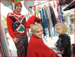 Celebrities Onboard Old Navy Awkward Holiday Photo Mobile5