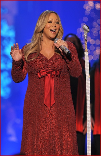 Mariah Carey pregnant TNT's 2010 Christmas In Washington6
