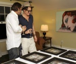 Johnny Depp Haute Living Presents Art Exhibit With Jordi Molla And Domingo Zapata At Chateau Marmont10