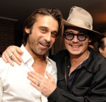 Johnny Depp Haute Living Presents Art Exhibit With Jordi Molla And Domingo Zapata At Chateau Marmont11