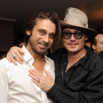 Johnny Depp Haute Living Presents Art Exhibit With Jordi Molla And Domingo Zapata At Chateau Marmont3