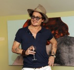 Johnny Depp Haute Living Presents Art Exhibit With Jordi Molla And Domingo Zapata At Chateau Marmont4