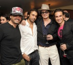 Johnny Depp Haute Living Presents Art Exhibit With Jordi Molla And Domingo Zapata At Chateau Marmont5