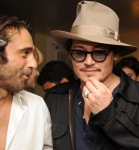 Johnny Depp Haute Living Presents Art Exhibit With Jordi Molla And Domingo Zapata At Chateau Marmont7
